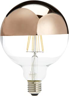 LightED Bombilla LED Globo Espejo E27, 6 W, Oro Rosa, 125 x 170 mm