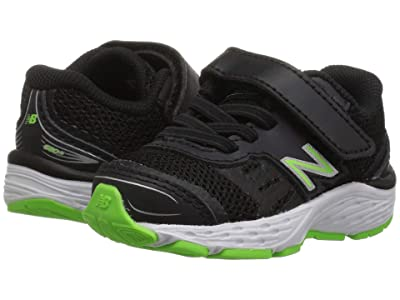 New Balance Kids IA680v5 (Infant/Toddler) (Black/RBG Green) Boys Shoes