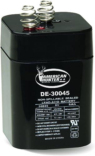 lowest AMERICAN popular HUNTER GSM DE-30045 6V 2021 Rechargeable Lantern Battery sale