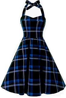 unique vintage plaid dress
