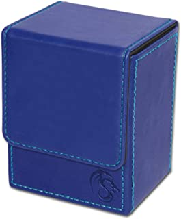 BCW Deck Case LX Leatherette | Holds 80 Sleeved Cards Blue 1-DCLX-BLU | (1-Unit)