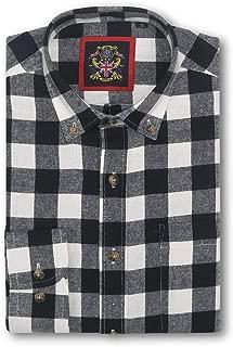 Long Sleeve Casual Shirt Janeo British Mens Lumberjack Plaid Tartan Check, S-3XL