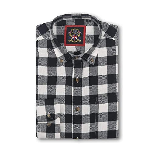e4549e45d Long Sleeve Shirt Janeo British Apparel, Mens Lumberjack Plaid Buffalo  Check, Light Brushed Cotton
