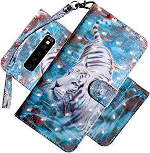 COTDINFOR Case for Samsung Galaxy S10 Plus Case Wallet Cool Animal Eff...