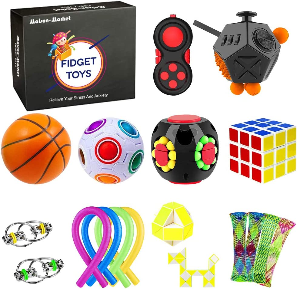19 Pack Sensory Fidget Toys Tools Stress Set Rapid rise Anti-Anxiety Relief OFFicial