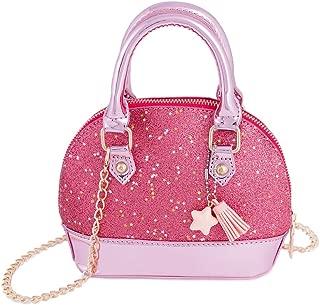 RockPanda Princess Little Girls Purses Satchel Crossbody Bag Wallet Shell Shape Handbags for Toddler Kids Tote (Pink)