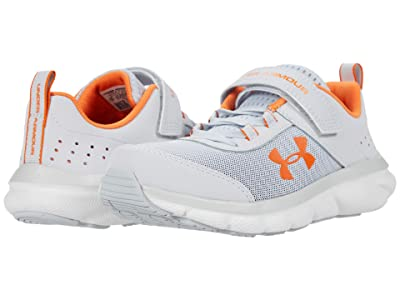 Under Armour Kids UA Assert 8 AC (Little Kid) (Halo Gray/White/Vibe Orange) Boys Shoes