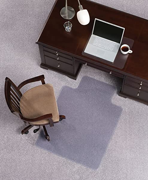 Mat Depot Premium Beveled Edge Chair Mat With Lip 45 X 53 Inches 1 4 Thick Clear