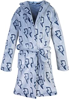 Dolcevida Boy's Flannel Hooded Bath Robe Microfleece Flannel Plush Fleece Bathrobe