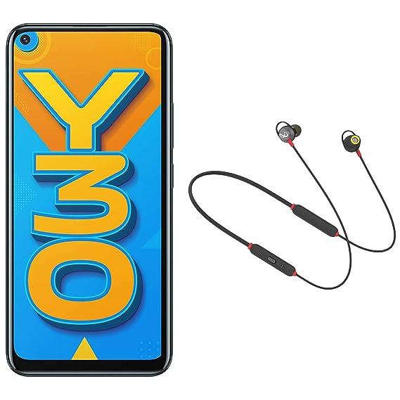 Vivo Y30 (Emerald Black, 4GB RAM, 128GB Storage) with Infinity (JBL) Wireless Neckband Earphones