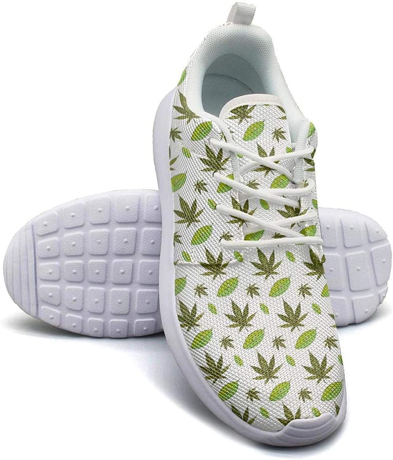 Cannabis weed marijuana Sneaker shoes for Women slip on Breathable Running shoes