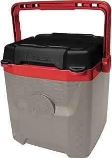 Igloo Quantum 12 Quart, Sandstone/Blaze Red/Black, 12 Qt. / 11 Large / 18 Cans