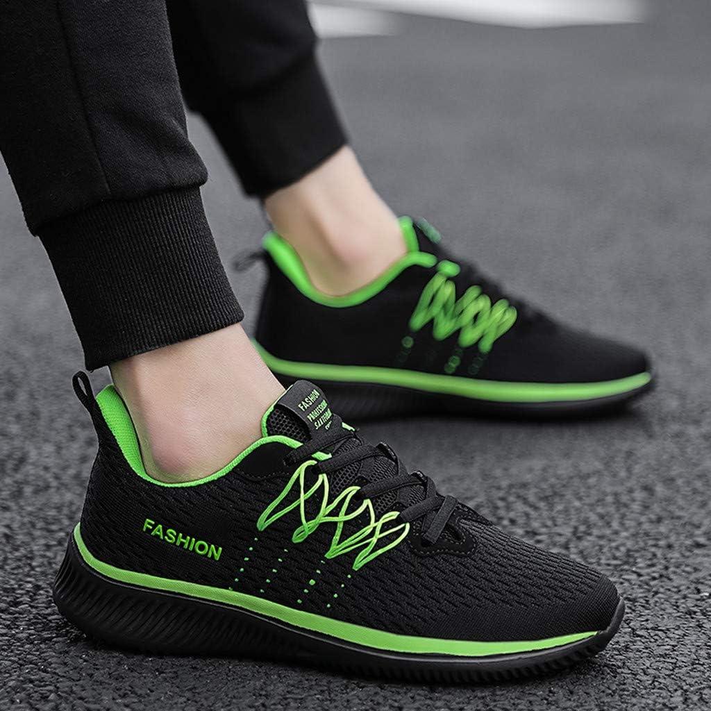 Sameno Street Sneakers Casual Sneakers for Men の Ultralight Running Trainers Mesh Walking Shoes Black Tennis Shoes