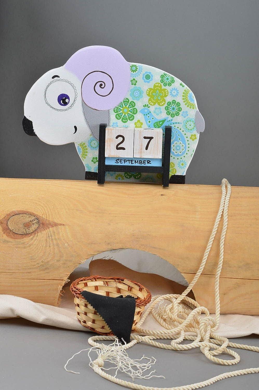 Handmade Desktop Calendar Perpetual Calendar for Kids Decorative use only