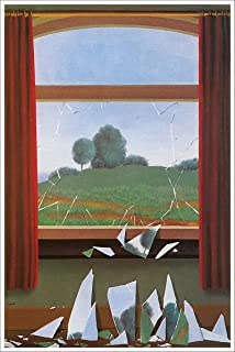 American Gift Services - Artist Rene Magritte Fine Art Poster Print of Painting The Door to Freedom - 24x36