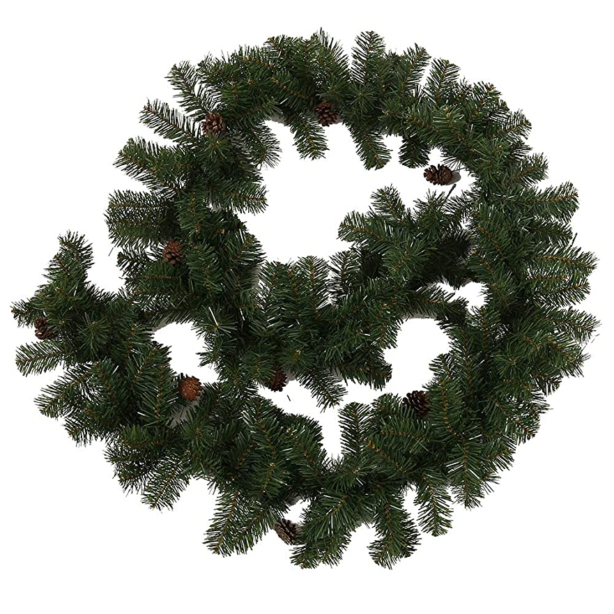 支給悪意のあるいっぱいWellbeingjp_JPクリスマス ガーランド クリスマスリース クリスマス飾り 2.7m クリスマスツリー 飾り パーティー装飾藤 クリスマス オーナメント クリスマスツリー装飾  松の葉モール 部屋 玄関 飾り 装飾品 華やか デコレーション オーナメント クリスマス用品