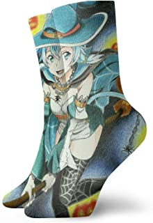 Maikurixukay, Anime Fairy Tail - Calcetines de Halloween para hombre, mujer, senderismo, calcetines para niños y niñas, lindos cómodos, transpirables, informales, medios...