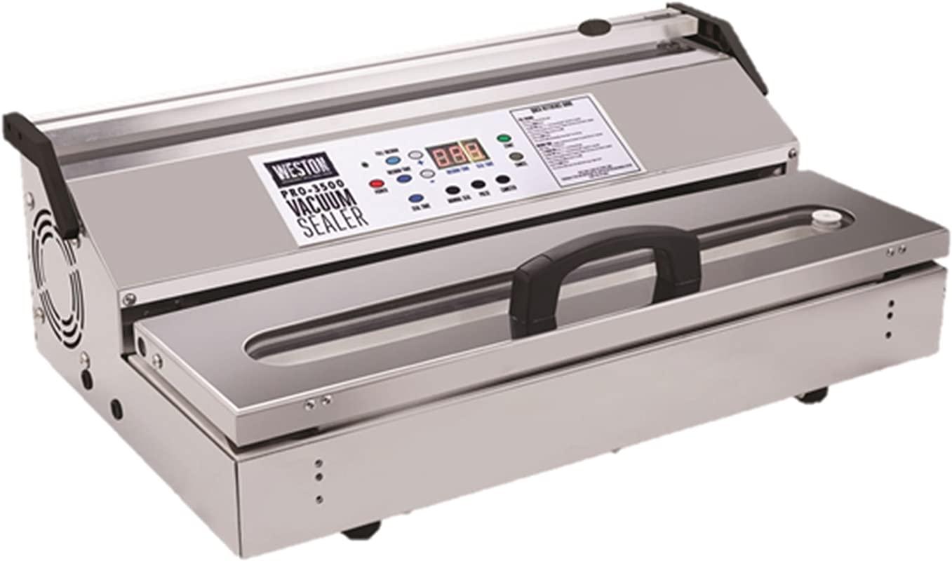Weston 65 0901 W Pro 3500 Commercial Grade Vacuum Sealer 15 Bar Stainless Steel