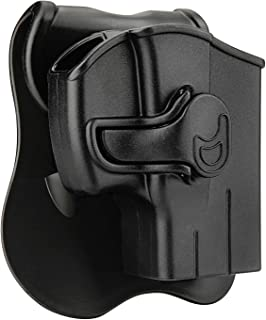 CYTAC Taurus PT111 G2 Holsters, OWB Holster for Taurus G2C Millennium G2 PT132 PT138 PT145 PT745(NO PRO), Tactical Outside The Waistband Belt Holsters with 360°Adjustable Paddle - Right Hand