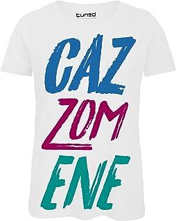 3b3cc8f3f243aa Shirt Divertente Donna Maglietta con Stampa Frase Ironica Giovani Cazzomene  Tuned