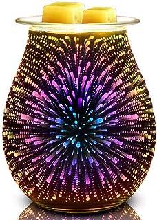 Bobolyn Glass Electric Oil Burner Wax Melt Burner Warmer Melter fragrance wax burner for Home Office Bedroom Living Room G...