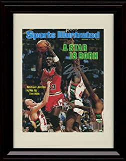 Framed Michael Jordan Sports Illustrated Autograph Replica Print - Chicago Bulls