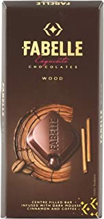 Fabelle Wood - Centre Filled Bar Infused with Dark Mousse, Cinnamon and Coffee, 131g Pack of 3