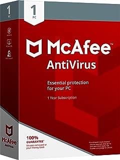 McAfee 2018 AntiVirus - 1 PC [OLD VERSION]