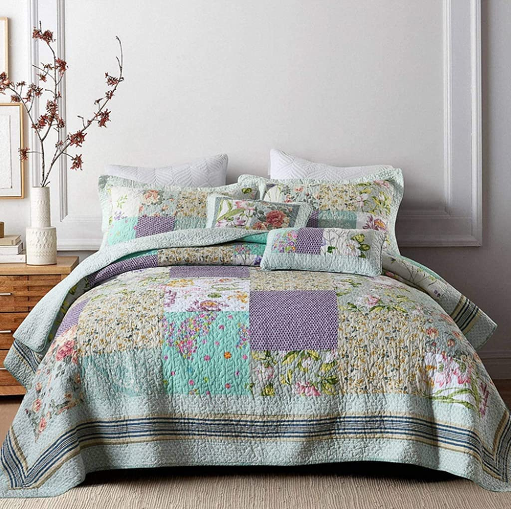 MXDZZ Quilt Set Bedspread with Machin Pillow Shams Some reservation Lightweight Easy-to-use