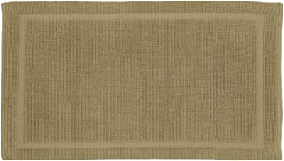 Grund Certified 100% Organic Cotton Bath Mat, Charleston Series, 21-Inch by 34-Inch, Driftwood