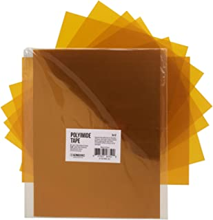 Gizmo Dorks Kapton Tape Polyimide for 3D Printers and Printing, 9 x 12 inches, 10 Sheets per Pack