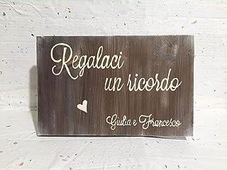 Targa in legno matrimonio Guestbook, Photobooth, Lascia un pensiero