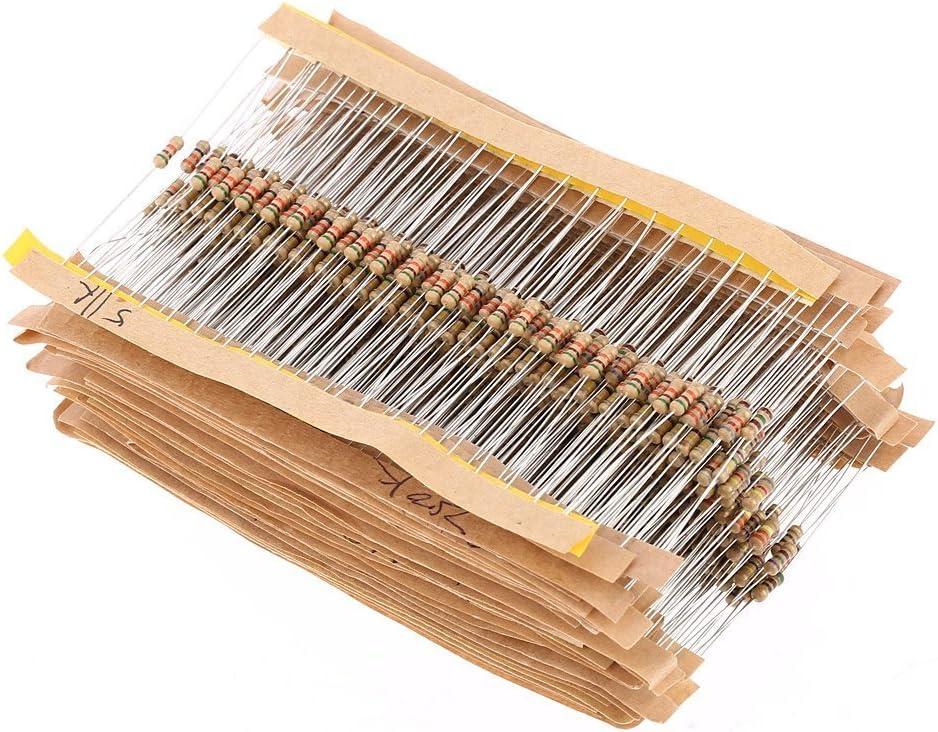 DollaTek 560PCS 1 4W Watt 1% Assorted Resistors Film Kit Fixed price for Latest item sale Carbon