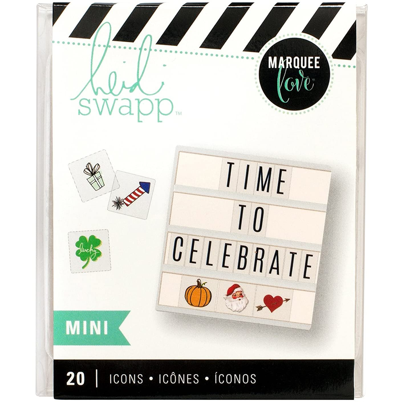 American Crafts Heidi Swapp Lightbox Mini Icon Inserts Holiday 20 Piece