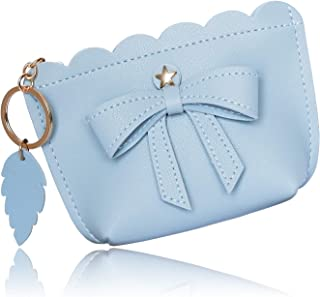 Conisy WK-P Womens Small Wallet Leather Zip Mini Cute Coin Purse With Key Ring