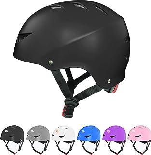 Dostar Skateboard Helmet for Kids Youth & Adults Bike Helmet for Multi-Sports Cycling Roller Skate BMX Scooter Helmet, 3 A...