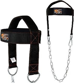 Tigon Head Harness Belt Training Weight Lifting Chain Neck Builder Collar Workout