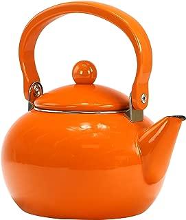 Calypso Basics by Reston Lloyd Enamel-on-Steel Teakettle, 2-Quart, Orange