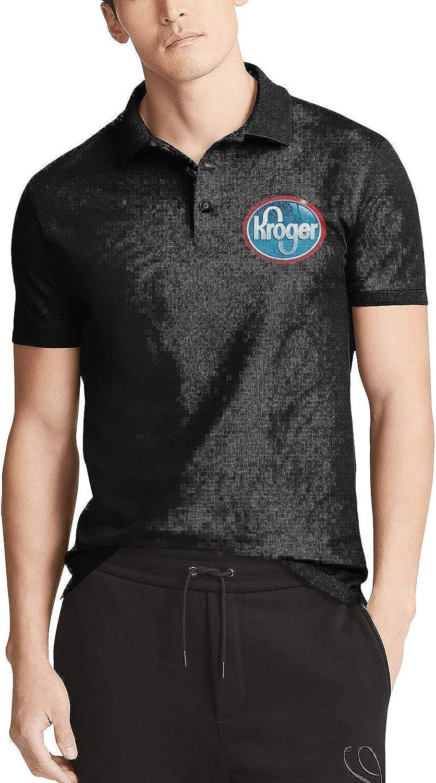 Men's Black Short Sleeve Kroger-Supermarket-Sh Polo Dallas Mall Shirt Bargain sale Collar
