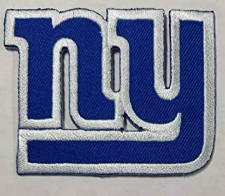 Iron On Patch New York Giants Logo American Football Team Embroidered 2.95 x 2.3 inch Blue