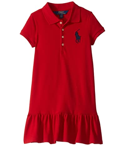 Polo Ralph Lauren Kids Stretch Cotton Mesh Polo Dress (Little Kids) (RL2000 Red) Girl