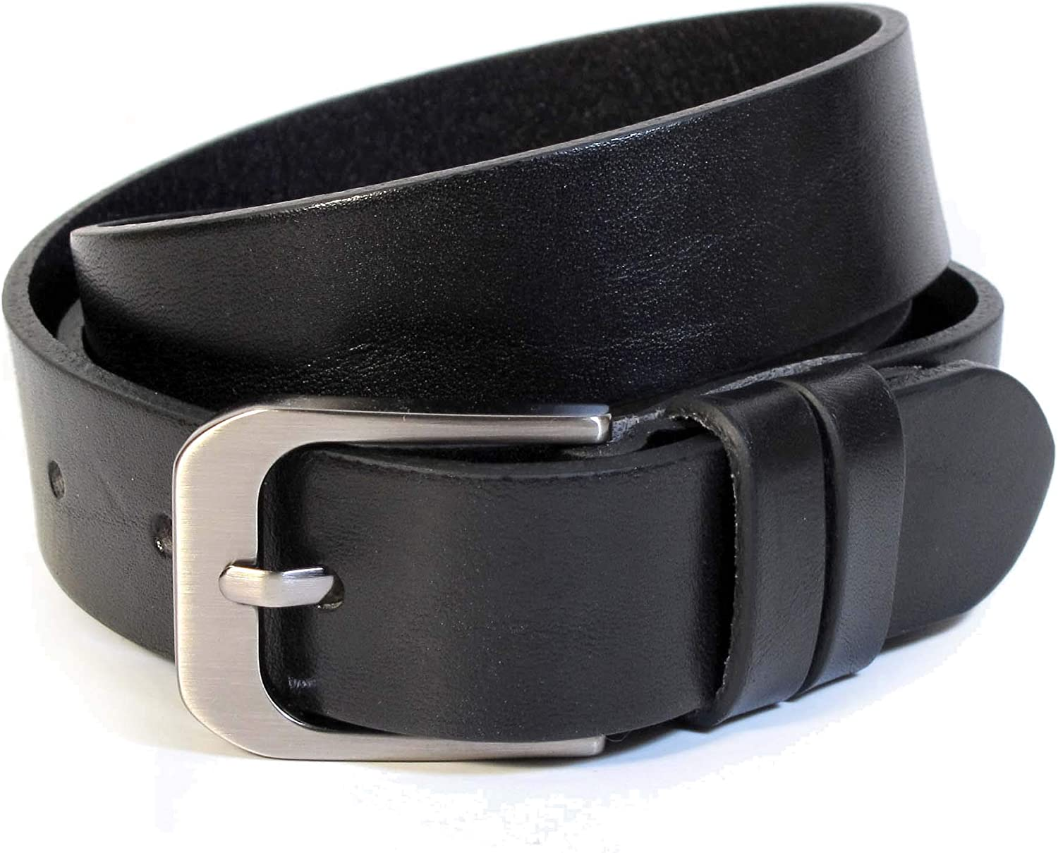 (CW1121) Womens Black Belt 100% Real Leather Size 28,30,32,34,36  Wide 1  Solid