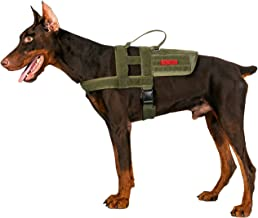 OneTigris SGT Patch K9 Mesh Soft Padded Harness Patch Paneled Walking Vest with Vertical Handle Medium Ranger Green TG-GBX14
