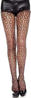 Music Legs Music Legs - Strumpfhose in schwarz mit Muster viereckigem