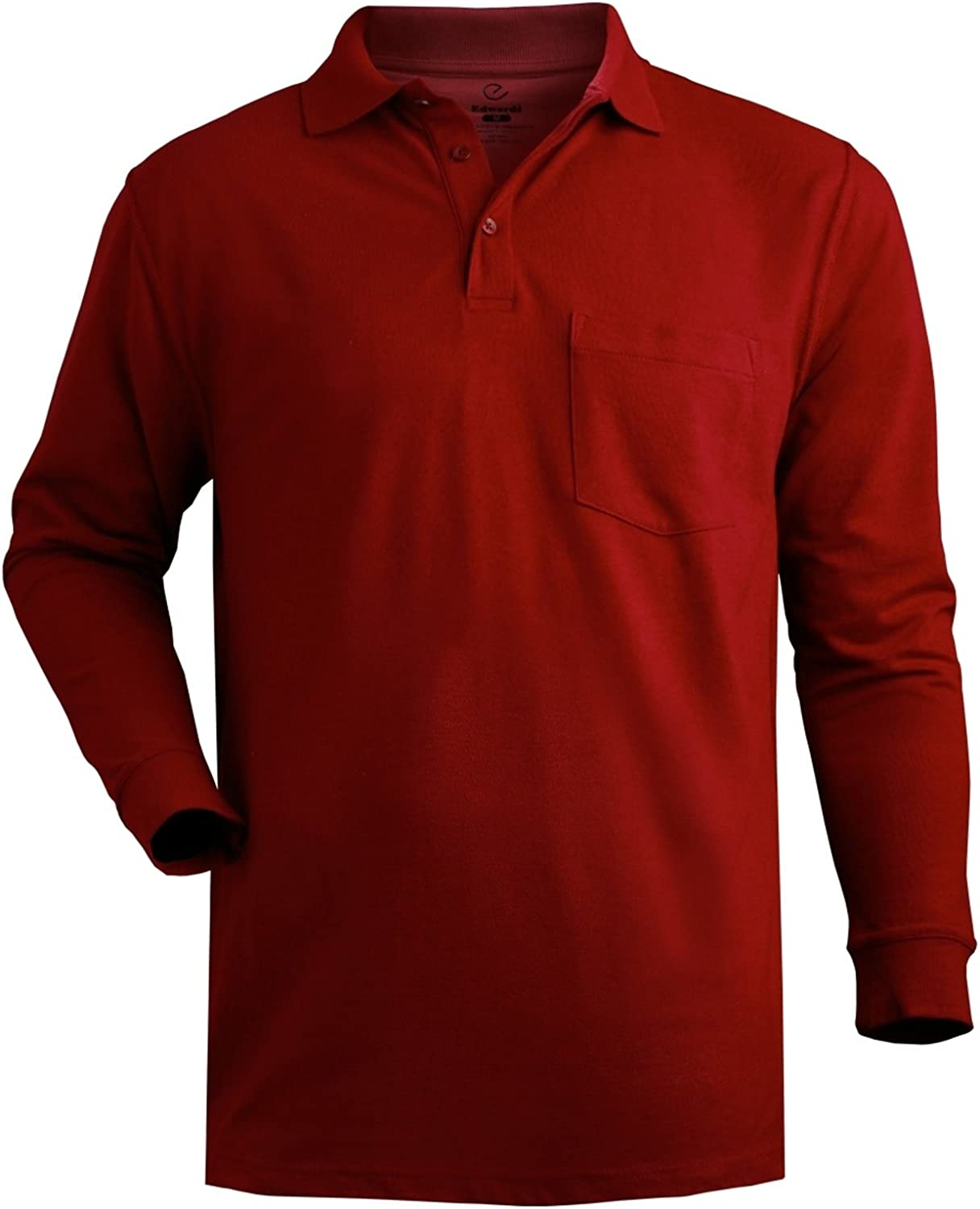 P & J Big and Tall Big and Tall Long Sleeved Polo Shirt With Pocket up To 6XT