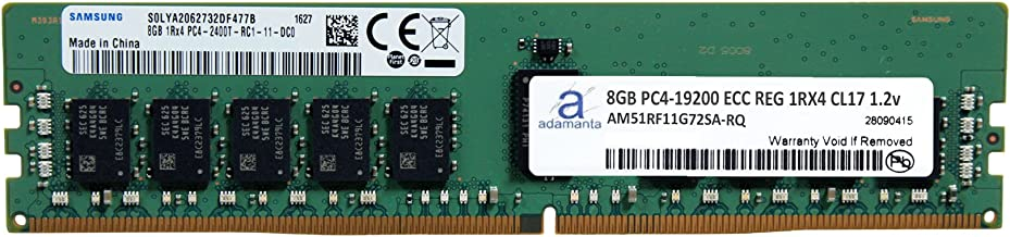 Adamanta 8GB (1x8GB) Server Memory Upgrade Compatible for Dell Poweredge & HP Proliant Servers DDR4 2400MHZ PC4-19200 ECC Registered Chip 1Rx4 CL17 1.2V DRAM RAM