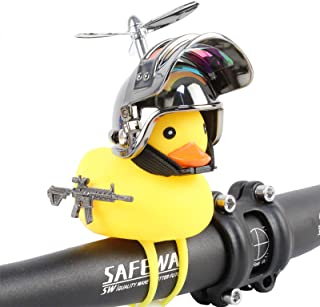 HORNTOP Duck Bike Bell,Rubber Duck Bicycle Horn with LED...
