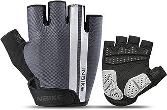 INBIKE Halfvinger Fietshandschoenen Ademend en Antislip MTB-handschoenen 5 mm EVA met Schokabsorptie met Reflecterende Ver...
