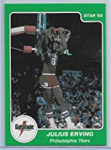 1985 Star Company Gatorade Slam Dunk Basketball Julius Erving Card # 5 Ex-Mint