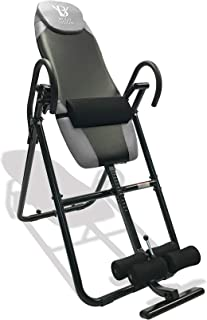 Body Vision IT9825 Premium Inversion Table with Adjustable Head Pillow & Lumbar Support Pad- Heavy Duty up to 250 lbs